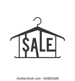 sale label hook offer banner icon. Isolated and flat illustration. Vector graphic