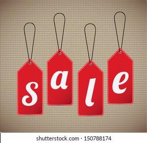 sale label over lineal background vector illustration