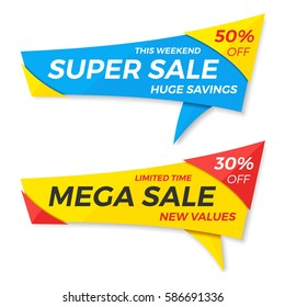 Sale label price tag banner badge template sticker design. Vector illustration.