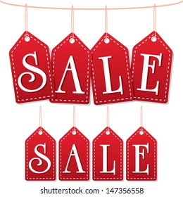 sale label tags red