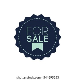 For Sale Label Vector