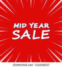 sale label vector. mid year sale poster.