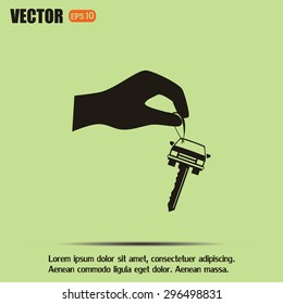 Sale or lease of the vehicle: in the hand your car keys. Vector