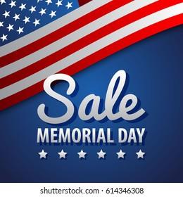 Sale / Memorial Day Background Illustration