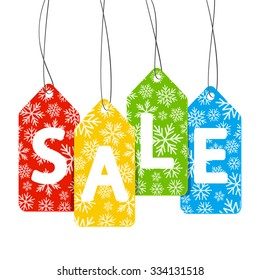 Sale message on white background