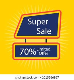 Sale offer background