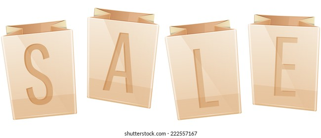 Sale paper bag Icon - Illustration
