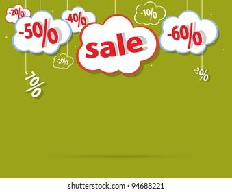 sale percent cloud vector format