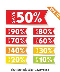 Vector Badge and Sale discount tag