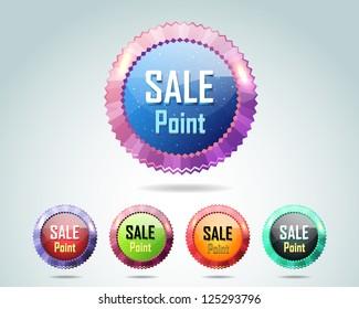 Sale Point Button/Icon Multicolored