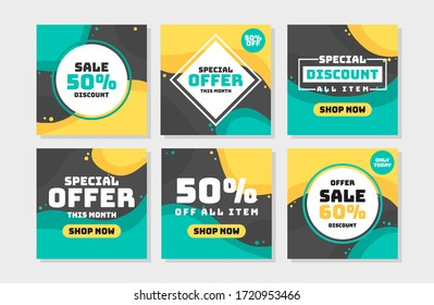 Sale post collection set vector