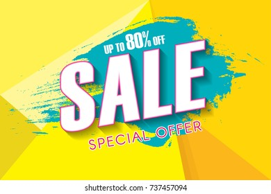 Sale poster, banner template design.