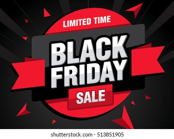 Sale poster of black friday
