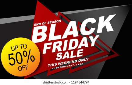 Sale poster of black friday design template