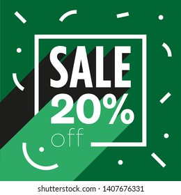 Sale poster - Discount 20% off