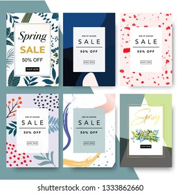 Sale poster, modern promotion web banner for shopping mall, mobile apps, website, newsletter, ads, coupons, promotional material. Elegant sale and discount promo background with abstract pattern.