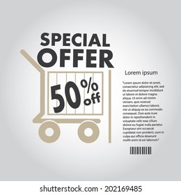 Sale poster with percent discount design template.