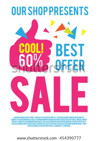 sale poster template best offer modern stock vector royalty free