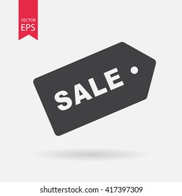 Sale,  price tag  icon. Sign isolated on white background. Vector flat design illustration