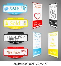Sale Price Tag. Vector illustration