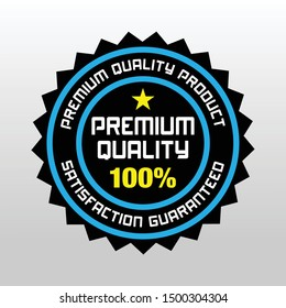 Sale quality badges. Round hundred percent assured label badge. Sticker, exclusive premium best price button. Seller offer big sale, hot deal or buy now signage guaranteed vector illustration