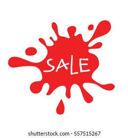 Sale red splat isolated
