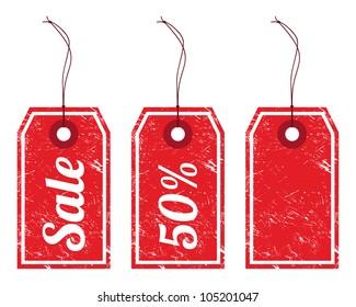 Sale retro price tags