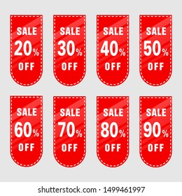 Sale set template concept design moderm style discount special offer