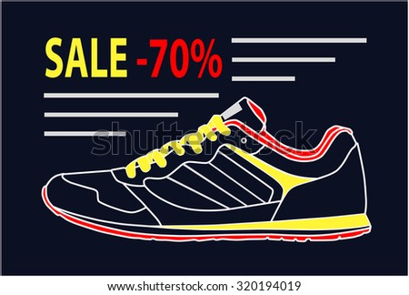 d53f54dad6ec Sale Shoes Concept Discount Price Tag Stock Vector (Royalty Free ...