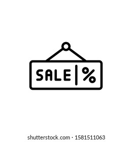 Sale Signboard Icon Outline Vector. Holiday Sale Icons. Online Shop Ikon.