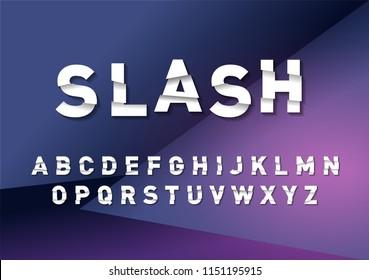 sale/ slashed/broken typography design illustration/vector