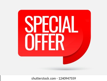 Sale of special offers. Discount with the price is 50 . An ad with a red tag for an advertising campaign at retail on the day of purchase. vector illustration