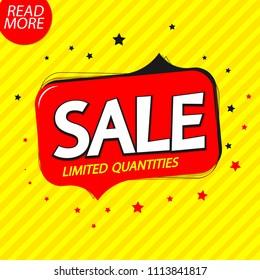 Sale speech bubble, banner design template, discount tag, app icon, vector illustration