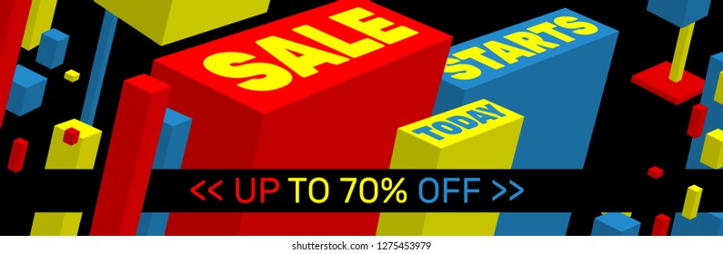SALE STARTS TODAY Banner design - Up to 70% off