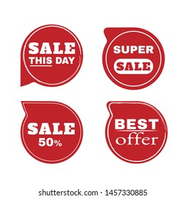 Sale Stickers shop product tags, labels or sale posters and discount vector banner icons.