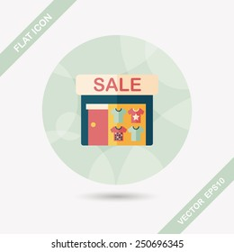 SALE store flat icon with long shadow,eps10