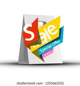 Sale Symbol on Paper Shopping Bag