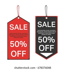 sale tag 50 percent off template stock vector royalty free