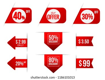 sale tag collection.sale promotion