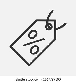 Sale tag cyber vector icon on background
