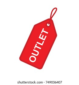 sale tag outlet vector icon