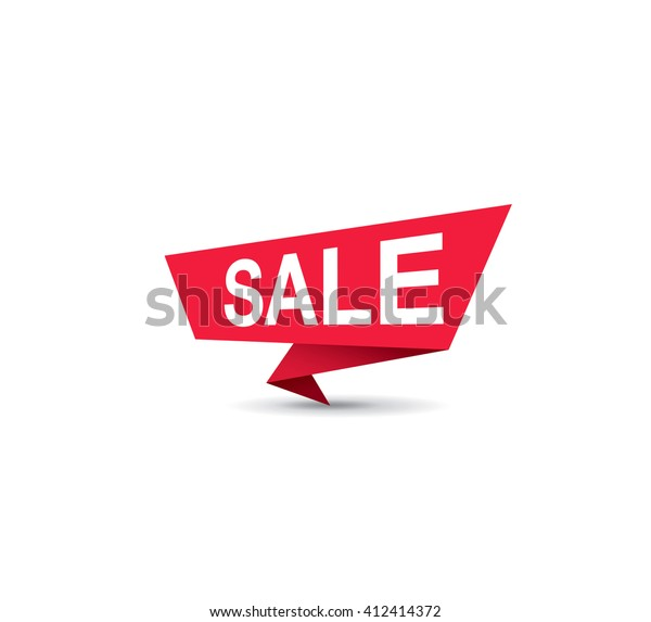 Sale Tag Template Design Stock Vector Royalty Free 412414372