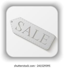 sale tag vector icon - paper button
