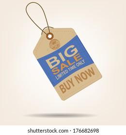 Sale Tag Vintage Big Sale