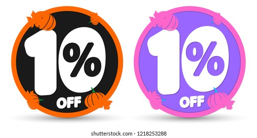 Sale tags 10% off, Autumn discount, Fall banners design template, Thanksgiving Day, app icons, vector illustration