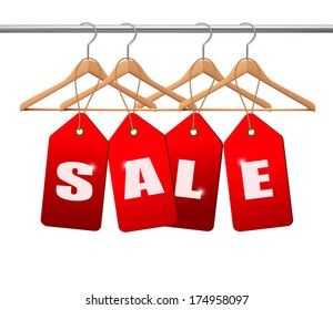 Sale tags. Concept of discount shopping. Vector