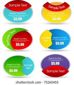 sale tags or label set