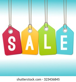 Sale tags vector design