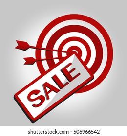 Sale  Target  vector illustration
