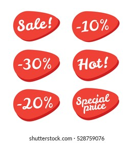 Sale tickets vector collection. Coupon and buy, tag and price, label paper